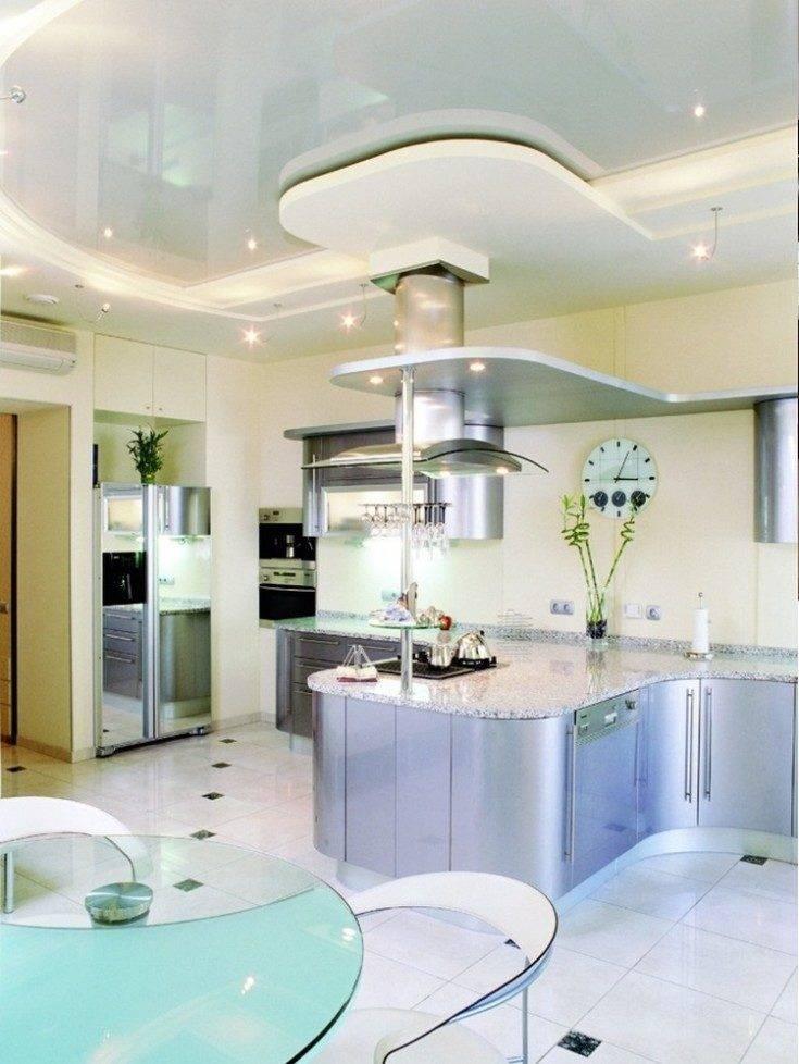 Потолки из гипсокартона на кухне своими руками: фото дизайна, технология монтажа