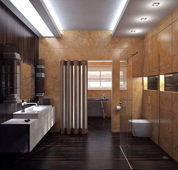 Дизайн ванной комнаты с туалетом — фото обзор интерьерных решений для экономии пространства, лучшие идеи совмещения