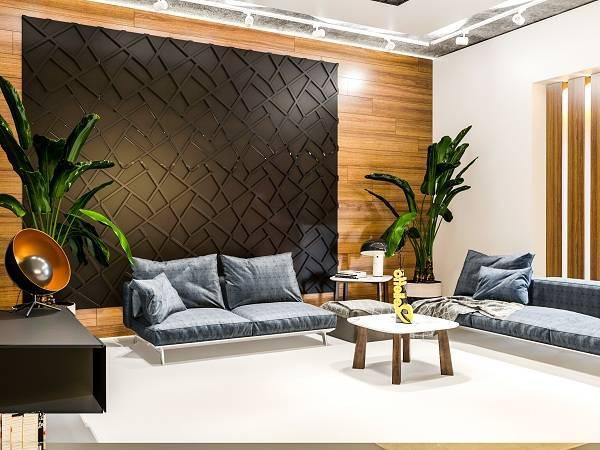 Гипсовые 3д панели: фото в интерьере и варианты актуального декора стен