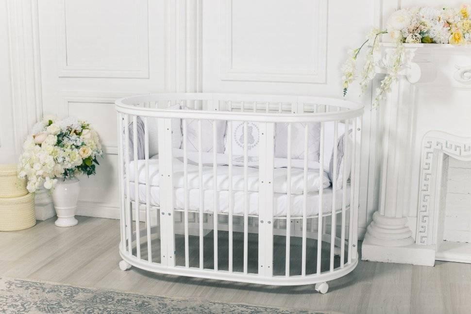 Детская кроватка с маятником: 130 фото современных моделей и их особенности