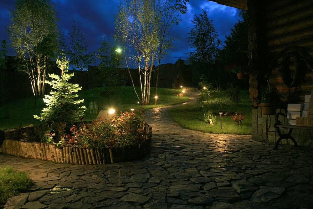Освещение участка загородного дома - выбор разновидностей и функций освещения, требования к приборам, правила установки освещение участка загородного дома - выбор разновидностей и функций освещения, требования к приборам, правила установки