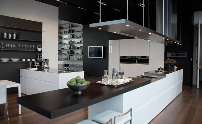 Дизайн кухни в стиле хай-тек: 50 лучших фото интерьеров