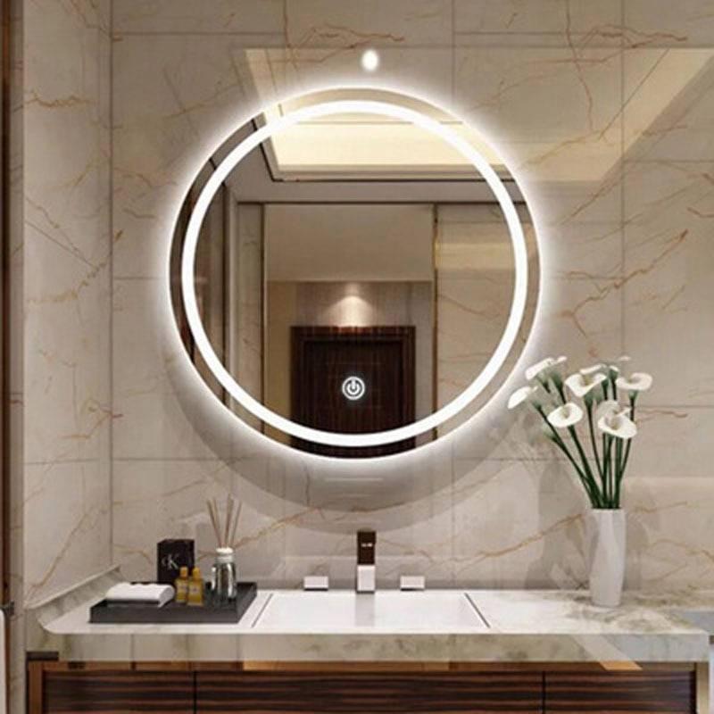 Зеркало с подсветкой в ванную комнату: как выбрать, дизайн идеи (+ фото)