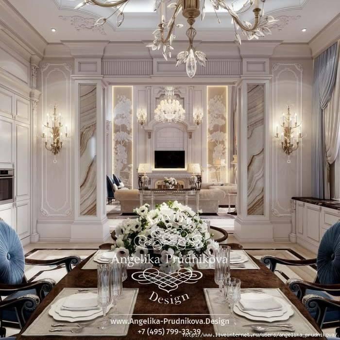 Эксклюзивный дизайн интерьера больших квартир и домов