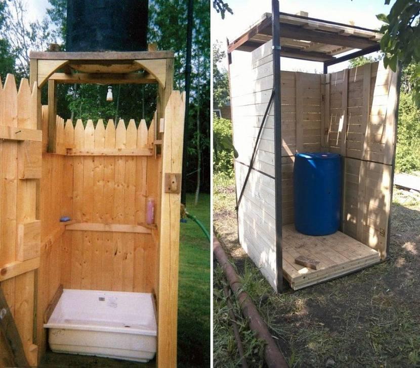 Как сделать летний душ на даче: простой вариант +75 фото