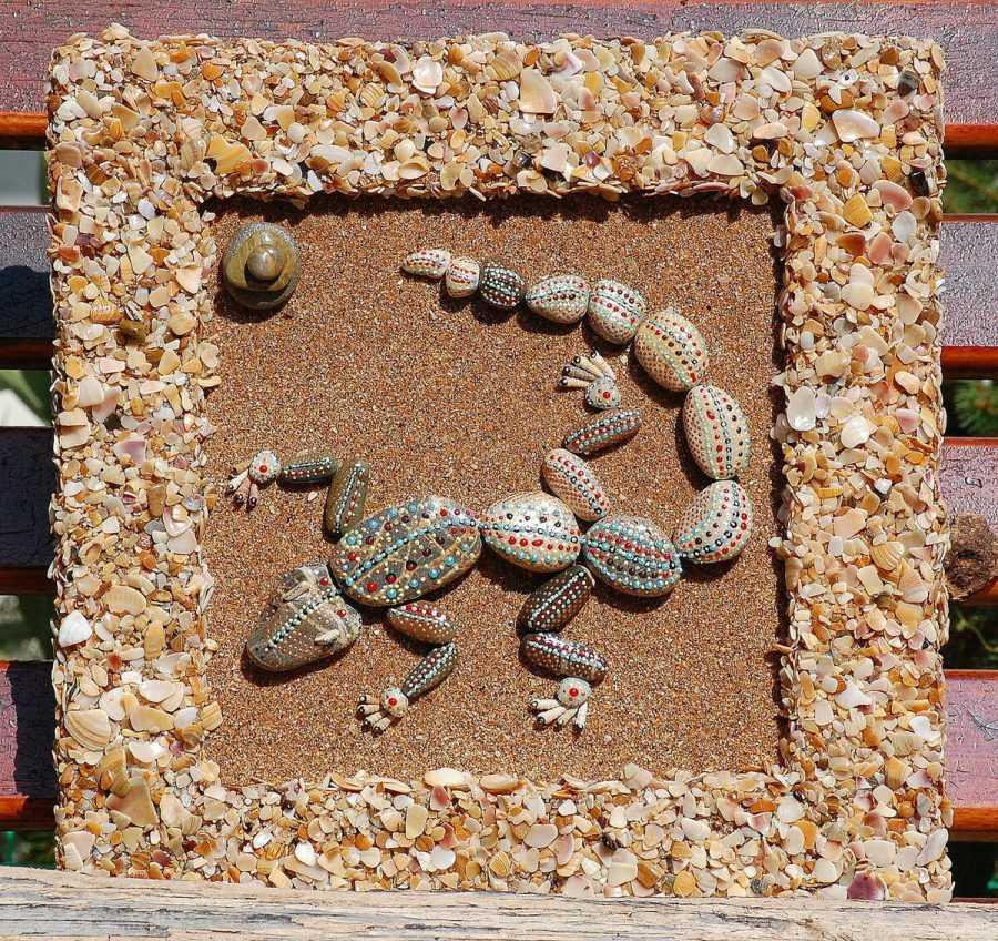 Поделки из камней и морской гальки