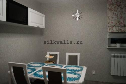 Жидкие обои в интерьере современной квартиры - фото примеров