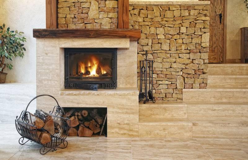 Плитка для камина (91 фото): облицовочная термостойкая и жаропрочная для печей под гжель, как клеить