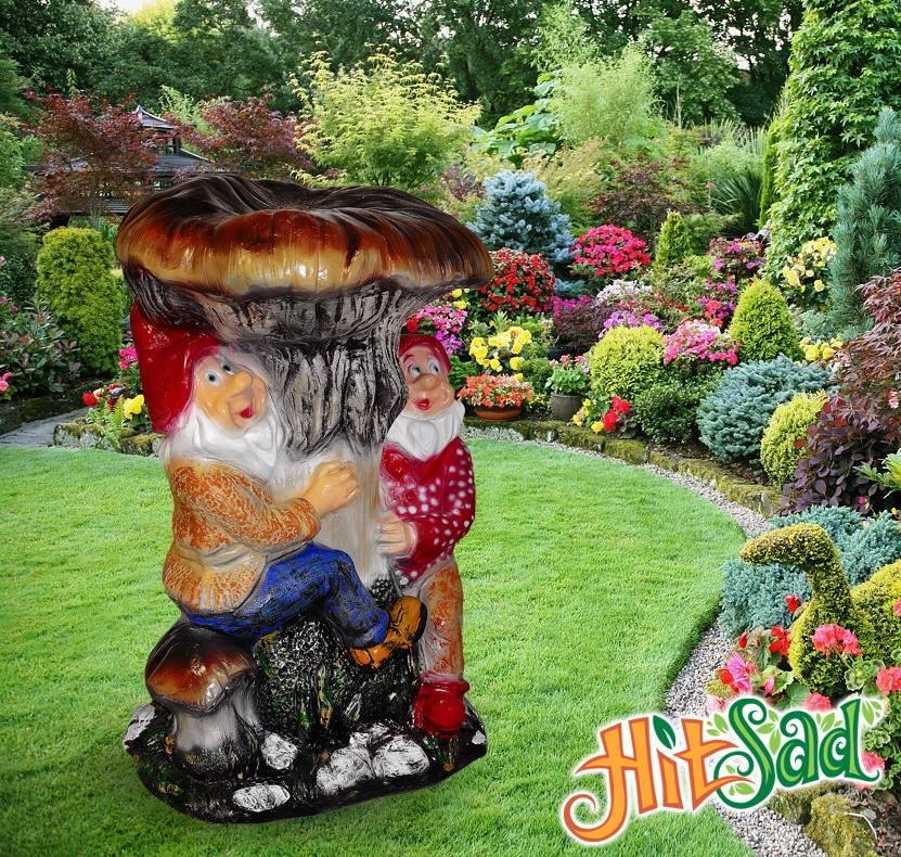 Садовые скульптуры для сада и дачи из бетона, дерева и гипса - 22 фото