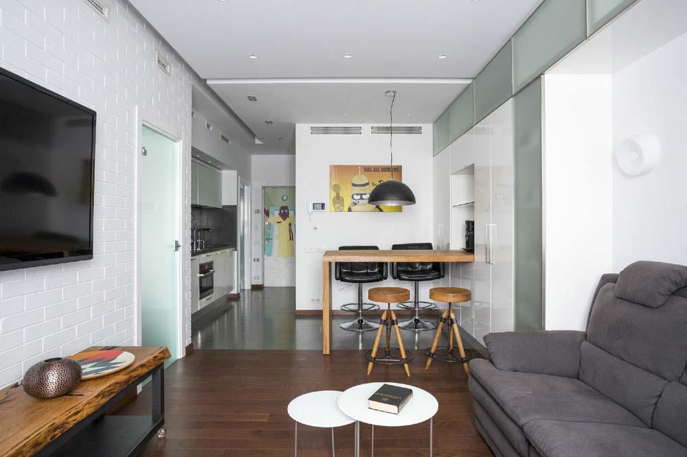 Дизайн квартиры 50 кв. м. - 200 фото идей современной планировки и оформления квартиры