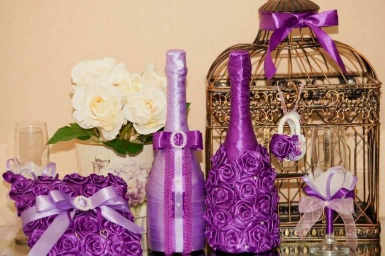 Декор бутылок поэтапно своими руками: 145 фото идей украшения тканью, джутом, шпагатом и кружевом в домашних условиях (мастер-класс)