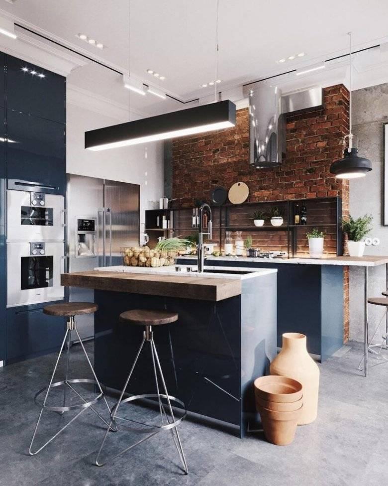 82 идеи дизайна кухни в стиле лофт — фото реальных интерьеров и советы