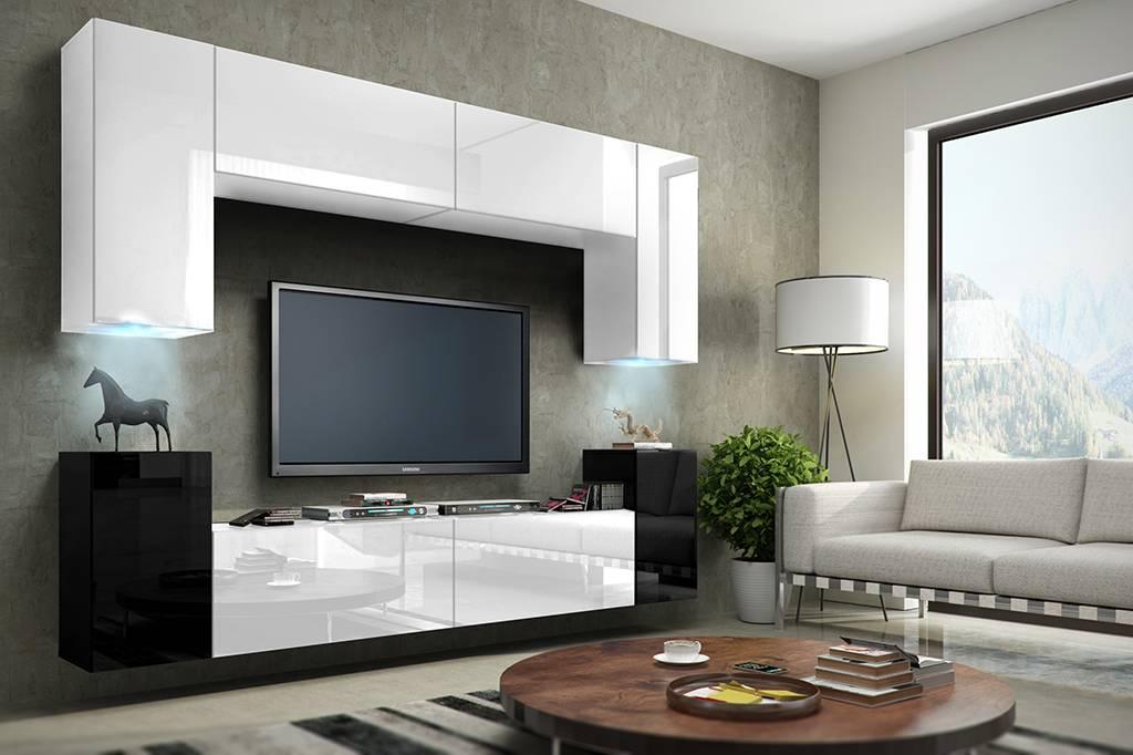 Современные стенки в гостиную: корпусная, угловая, модульная, встроенная (советы по выбору идеального варианта)
