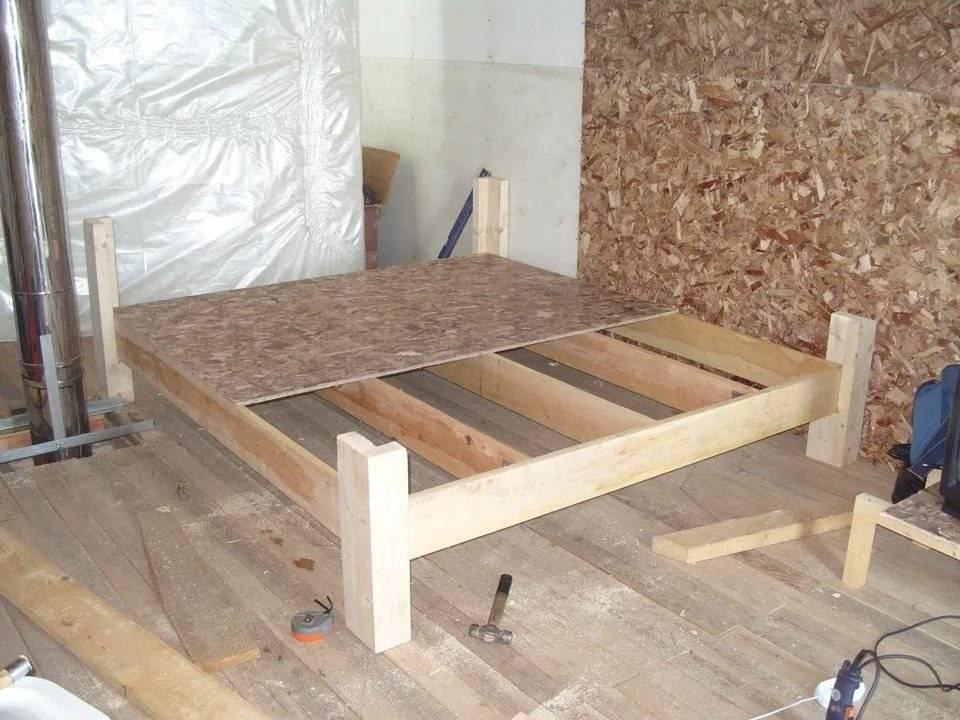 Кровать из дерева своими руками 800 фото, чертежи, пошаговые инструкции