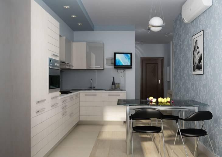Дизайн кухни 8 кв. метров: 80+ фото примеров, варианты планировки, размещение обеденного стола, выбор цветовой гаммы, оформление окна
