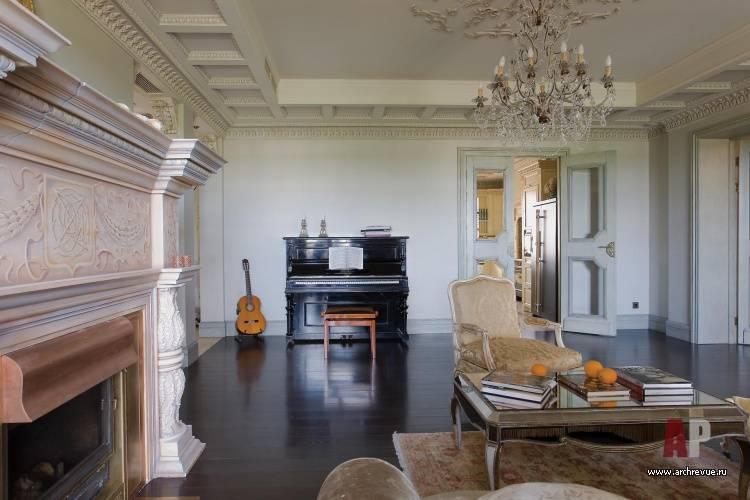 Лепнина в гостиной – изысканность спрятанная в подробных деталях (70 фото + видео)