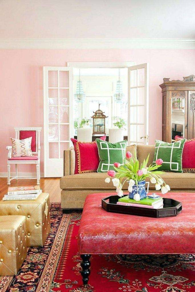 Красный цвет в интерьере - идеи дизайна комнат, цветовые сочетания (90 фото)