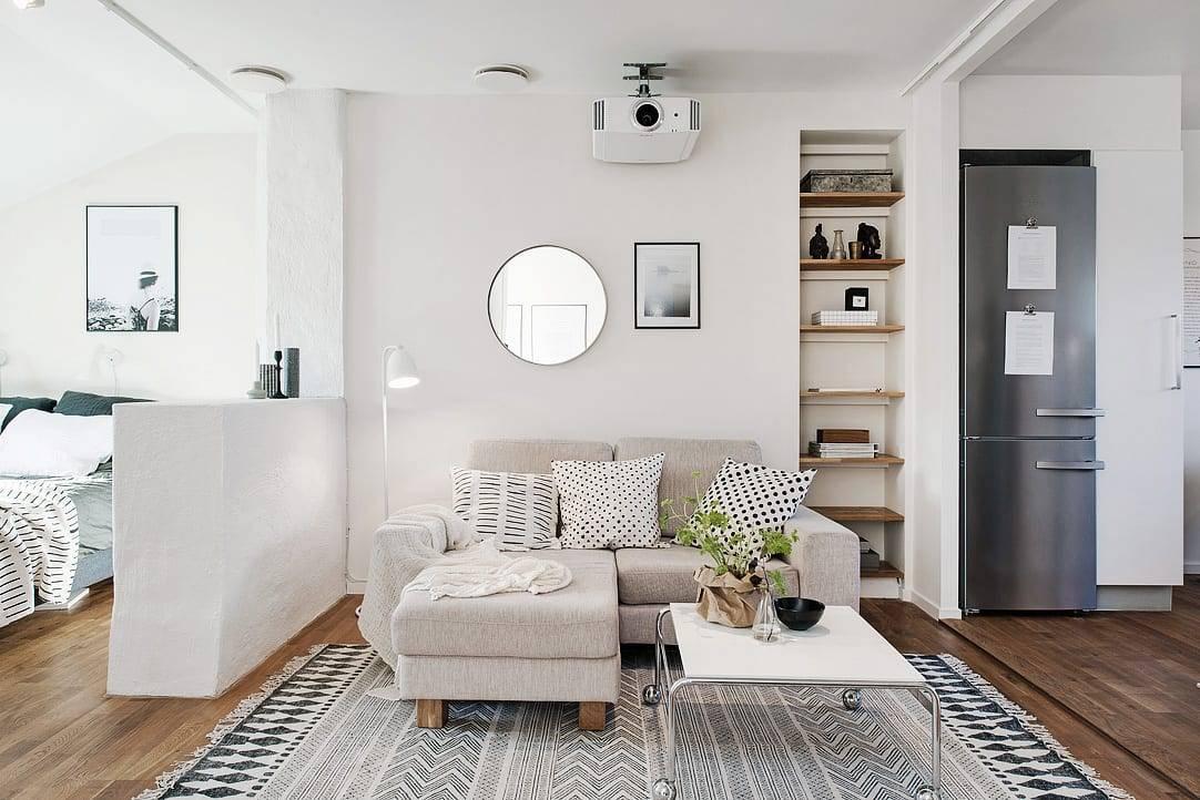 Дизайн маленькой квартиры своими руками: 17 хитростей   24 фото