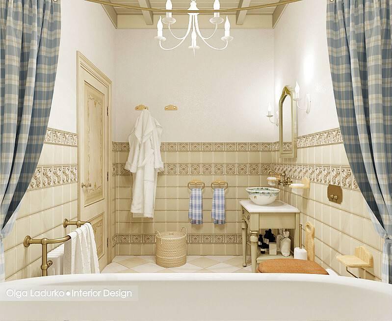Прованс в оформлении ванной - 45 фото примеров