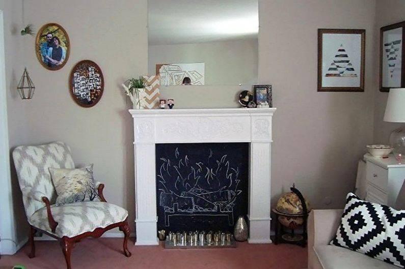 Декоративный камин своими руками: имитация из гипсокартона, как сделать фальш-камин, пошаговая инструкция, фото, видео
