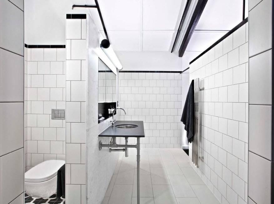 Ванная комната в стиле лофт: мебель, дизайн туалета, душевой и санузла  - 20 фото