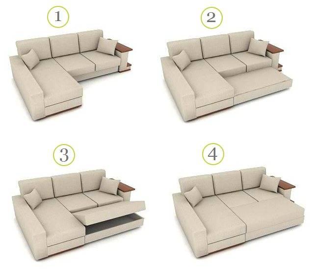 Механизм аккордеон для дивана, отличительные черты конструкции