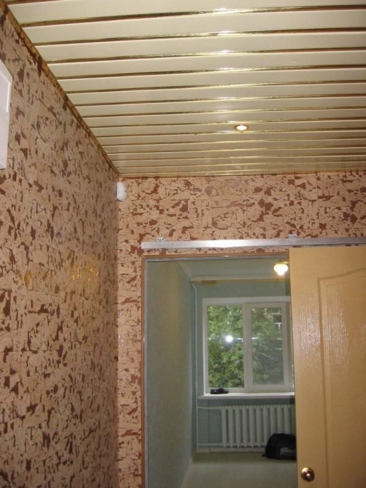 Потолок в коридоре (78 фото): дизайн реечного подвесного потолка в прихожей. какой лучше сделать в маленьком и узком помещении? чем можно отделать потолок? черные и глянцевые навесные потолки