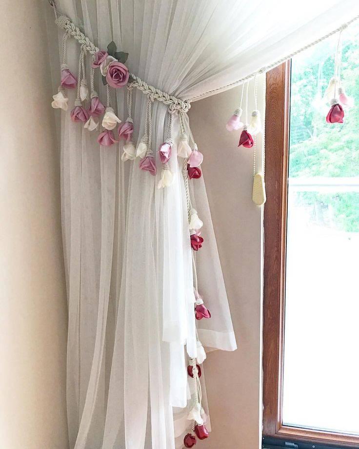 Декор штор своими руками +80 фото