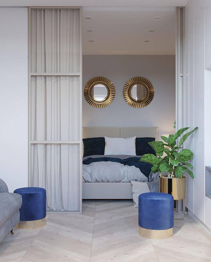 Дизайн однокомнатной квартиры 38-39 метров: фото, идеи, перепланировка