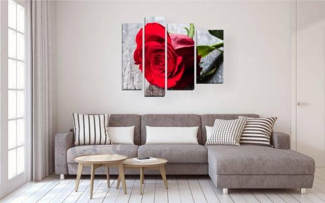 Варианты выбора модульных картин в интерьер гостиных комнат интерьер и дизайн
