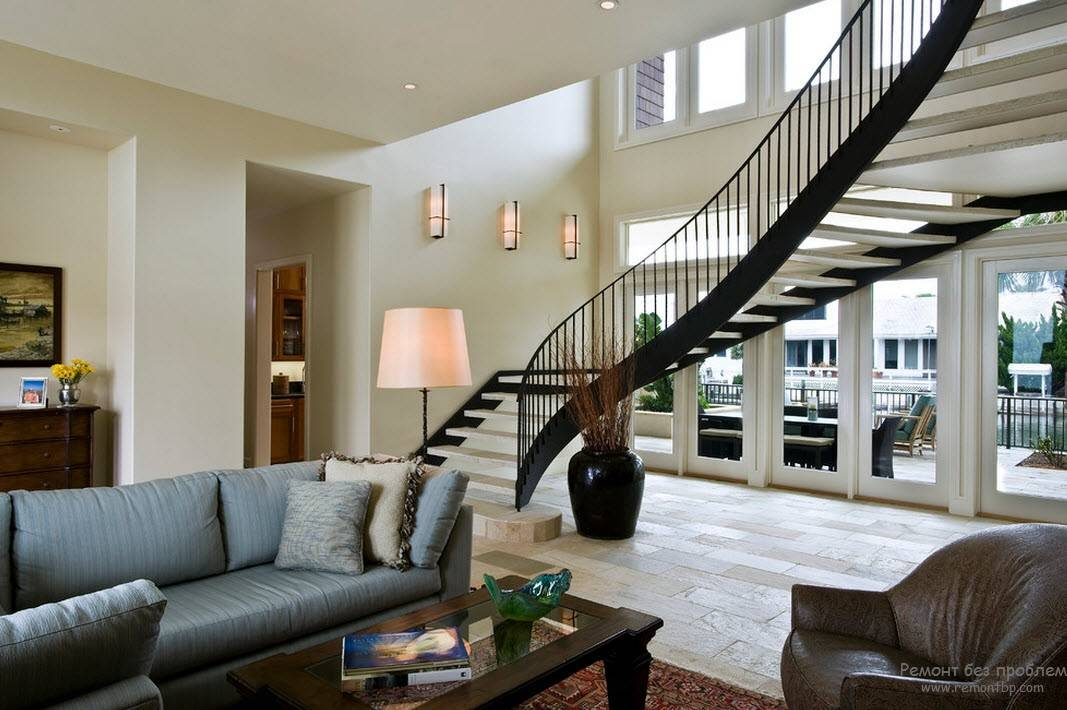 Гостиная с лестницей: 69 фото идей и решений как правильно сделать выбор