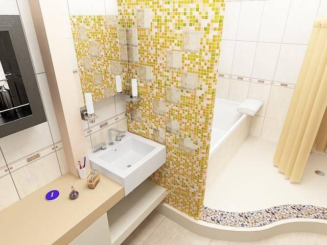 Плитка мозаика в ванной: виды, дизайн, мозаичные панно (+ фото)