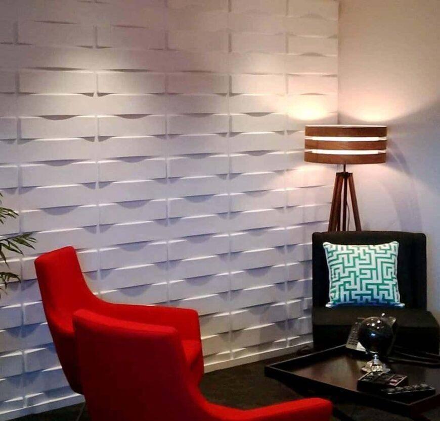 3d панели для стен в интерьере — 45 фото примеров