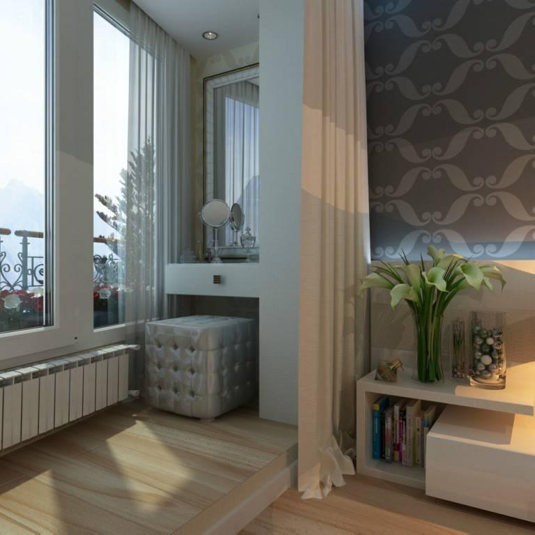 Спальня на балконе — оформление и перепланировка от дизайнеров. готовые решения дизайна спальни на балконе в 100 эксклюзивных фото