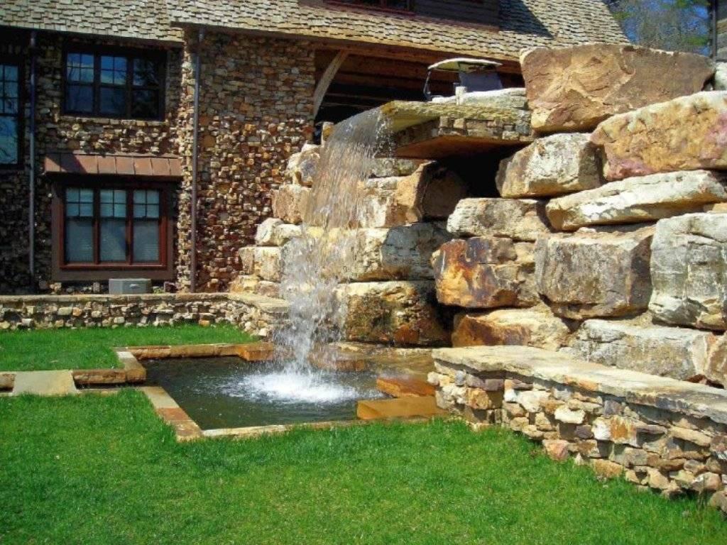 Водопад на даче своими руками: 93 фото оригинальных идей декора!