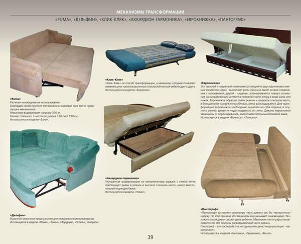 Лучший механизм трансформации дивана для ежедневного использования: как выбрать диван для сна? самый надежный и удобный механизм на каждый день. обзор отзывов
