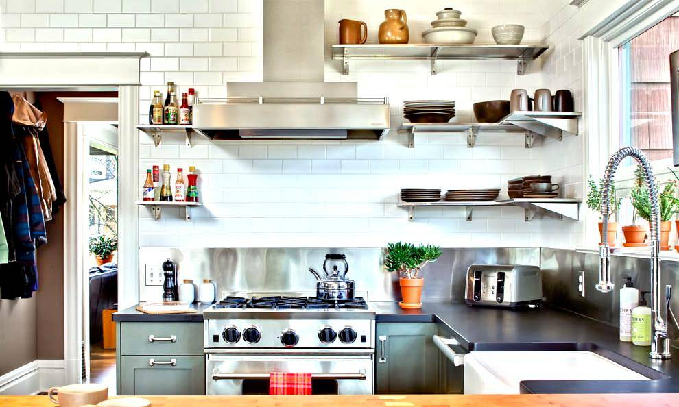 Кухонные полки: лучшие идеи дизайна (60 фото)