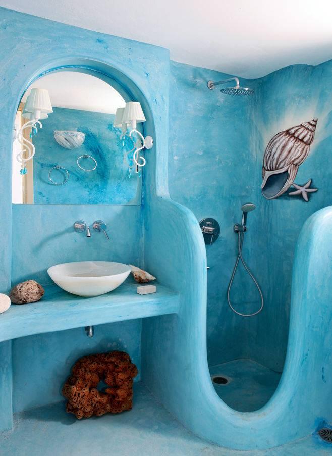 Ванная в морском стиле - идеи декора помещения