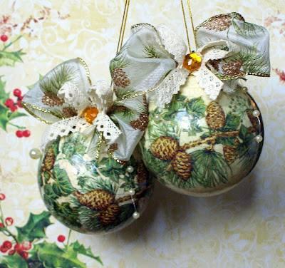 Как сделать декупаж новогодних шаров своими руками