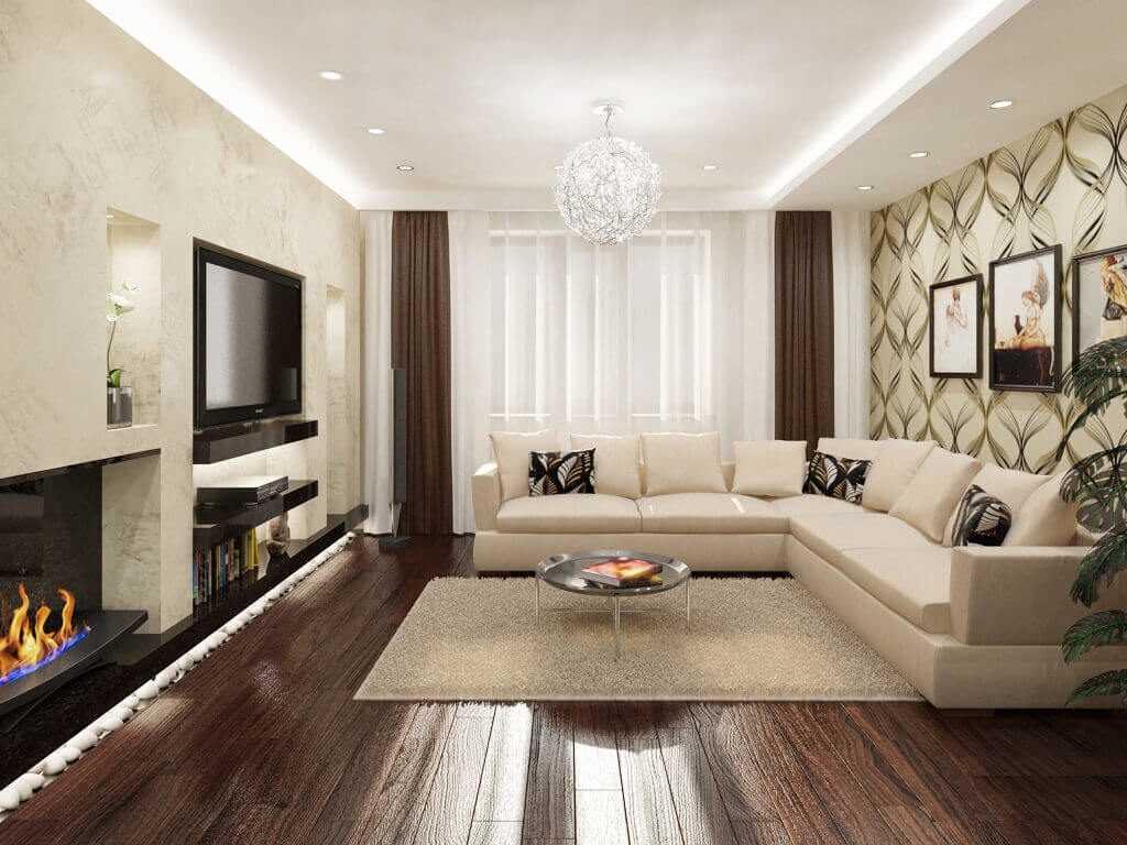 Ремонт гостиной в квартире: пошаговое описание, как сделать хороший и качественный ремонт в зале