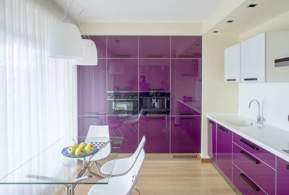 Глянцевая кухня: подходящий цвет, стиль, реальные фото