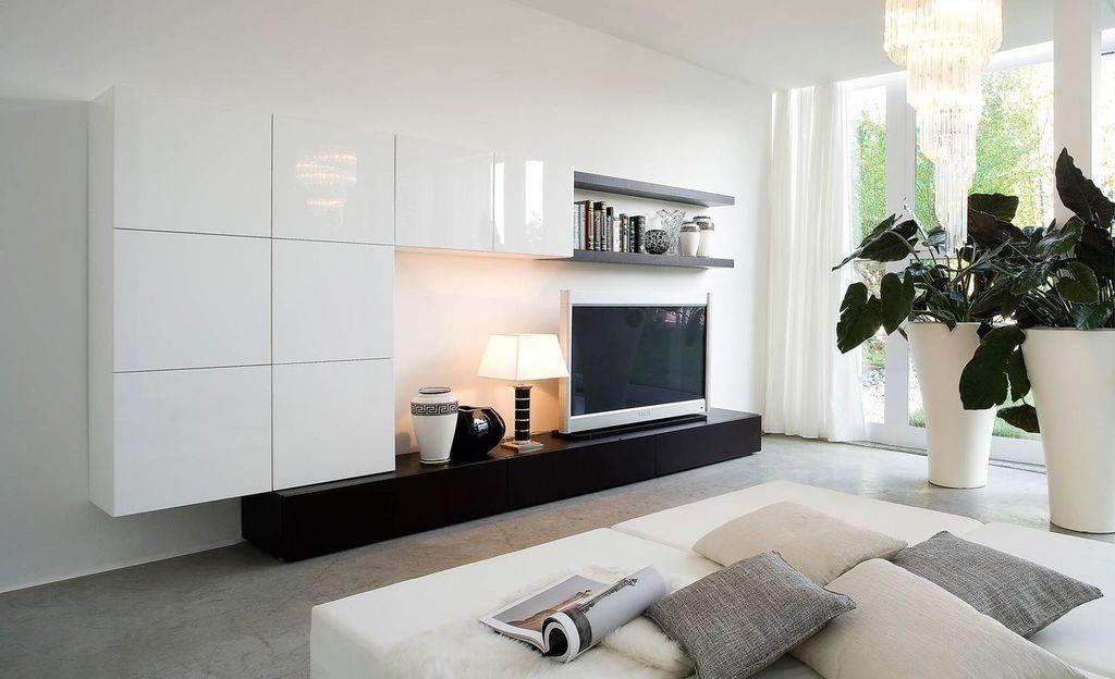 Стенка в гостиную в современном стиле: как правильно выбрать и что нужно учитывать?