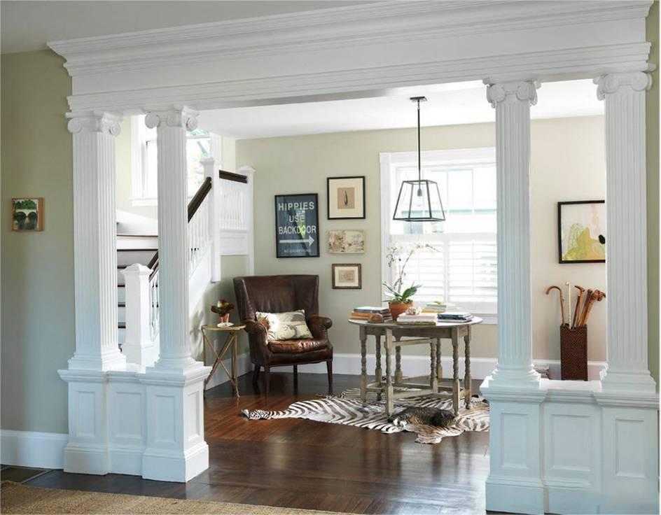 Колонны в интерьерах > 60 фото-идей колонн в современных интерьерах квартир и домов