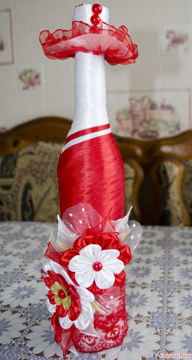 Декор бутылок - мастер-класс создания красивого украшения из бутылок и подручных материалов