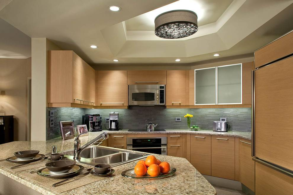 Потолки из гипсокартона на кухне: примеры оформления