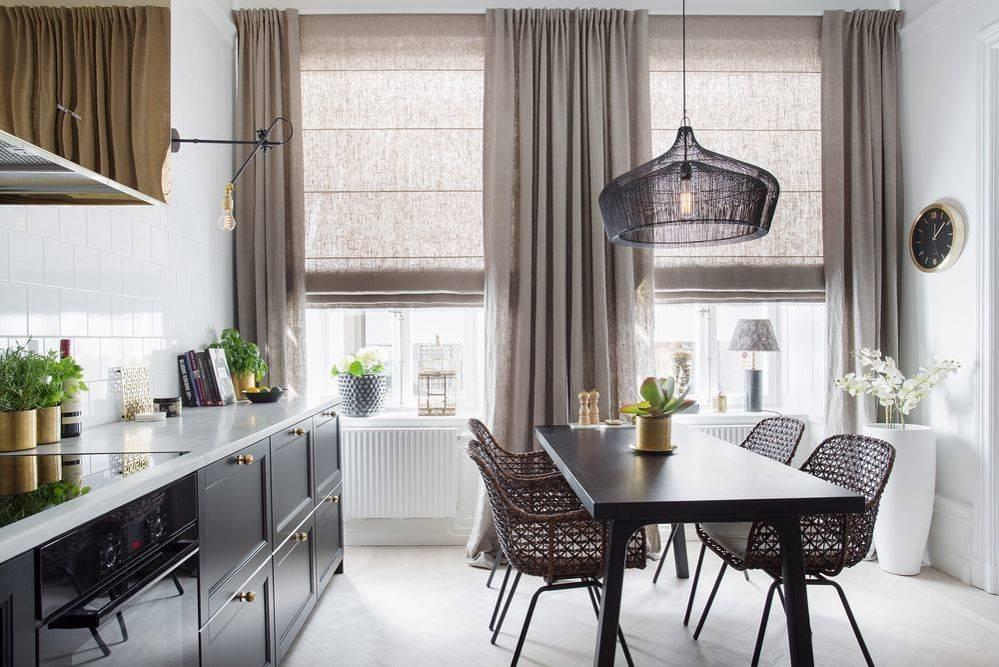 Стильные шторы на кухню — 2021, дизайнерские варианты