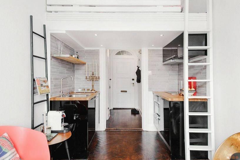 Дизайн студии 25 кв. м. планировки, идеи зонирования