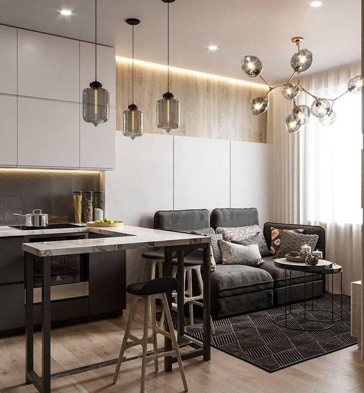 Идеи дизайна, планировки и зонирования кухни-гостиной 19 кв. м с фотопримерами - 29 фото