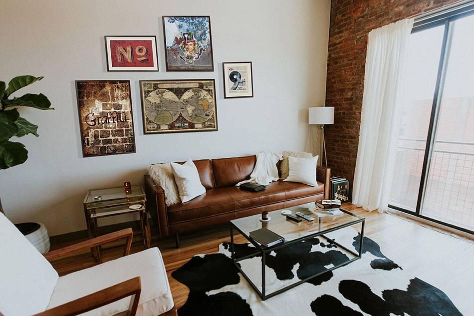 Стиль лофт в интерьере квартиры на фото