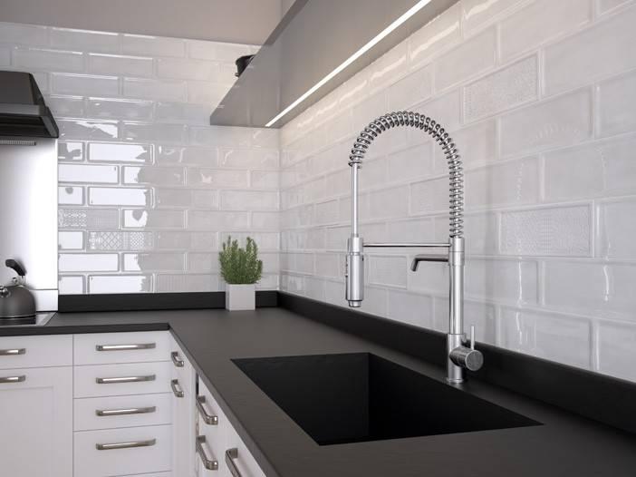 Плитка кабанчик на фартук кухни: виды облицовки и 80 трендовых кухонных интерьеров